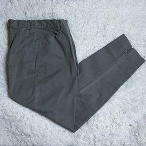 Denim & Co. Grayish Green Twill Pants 12 NWOT